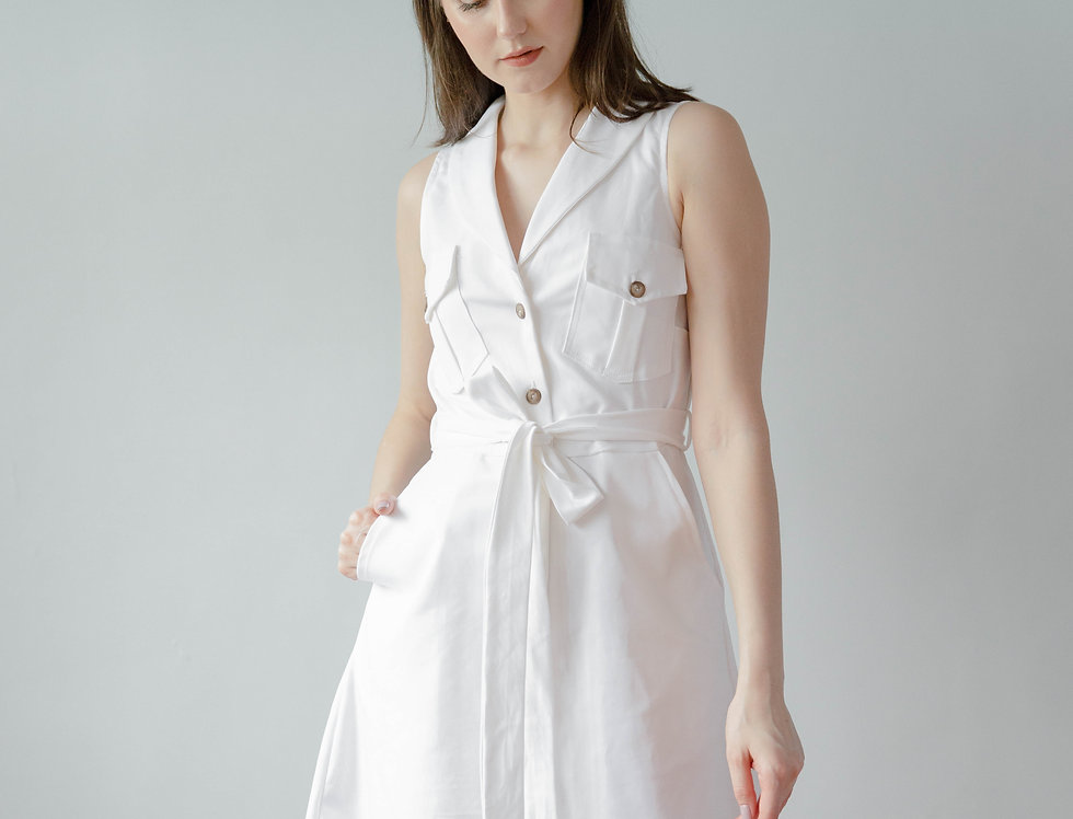 Lucy Dress- White