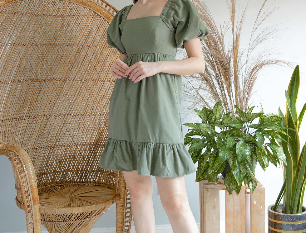 Dolly Dress- Olive