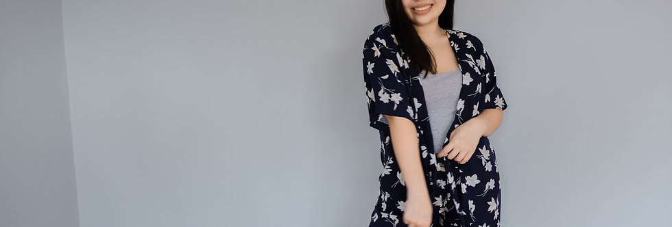 Kylie Kimono: Cobalt