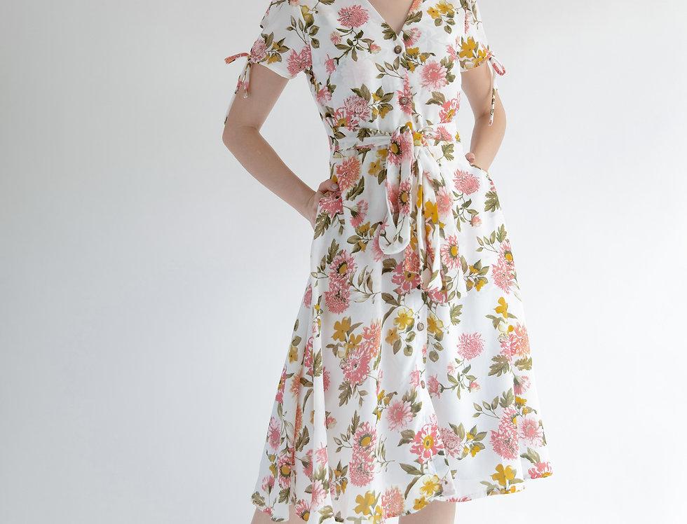 Sienna Dress- White Floral