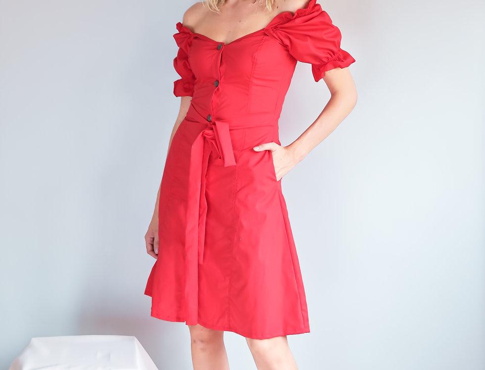 Ella Dress- Red