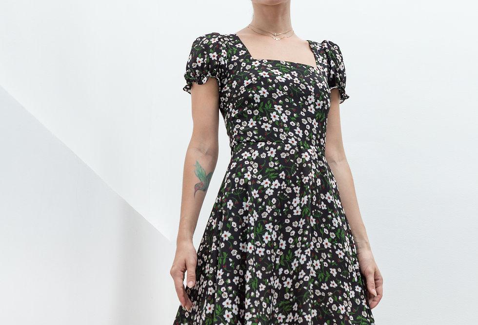 Emma Dress- Black Floral