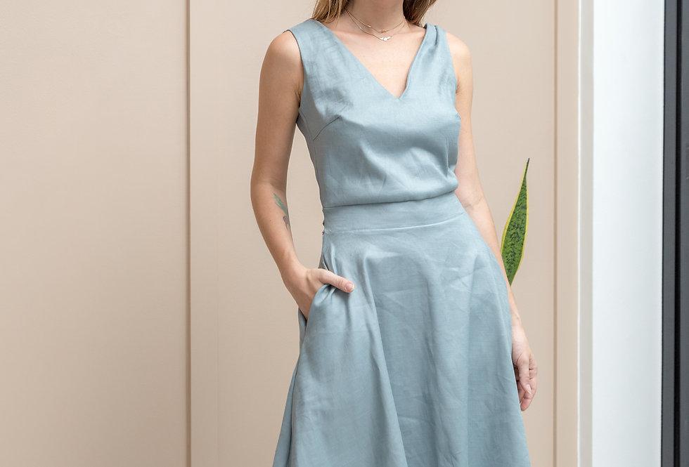 Kaila Dress- Slate Blue