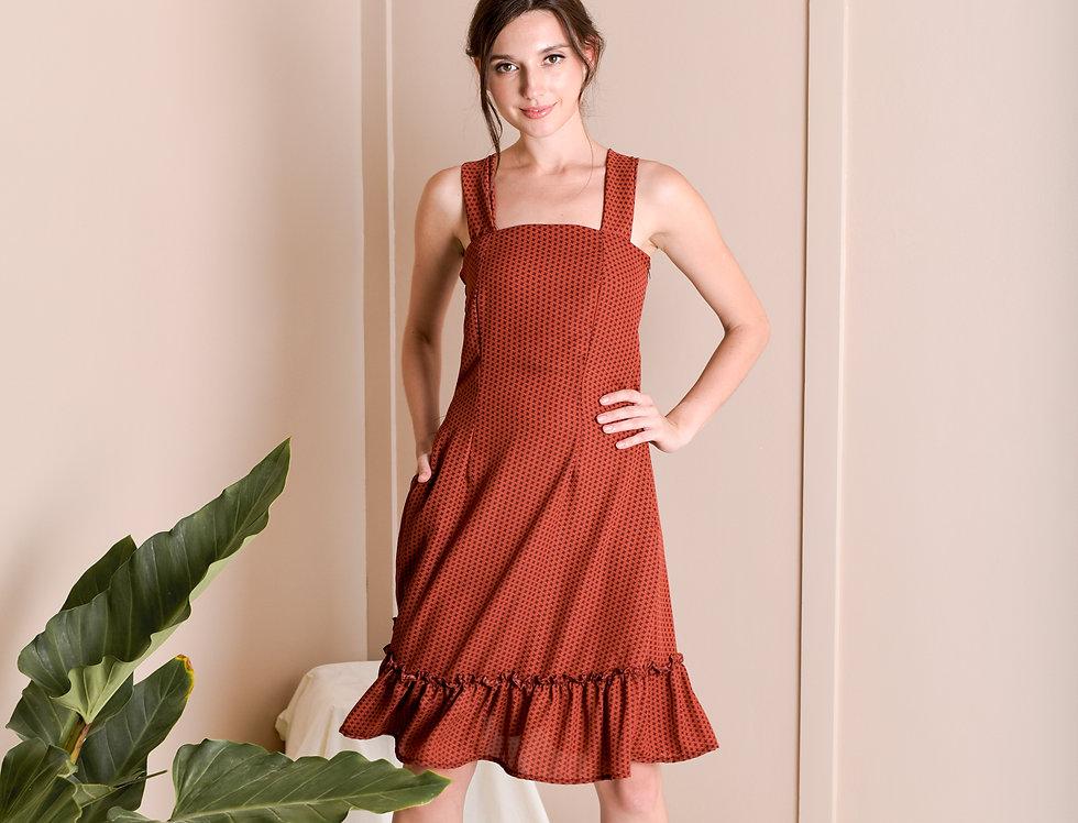 Blanca Dress- Rust