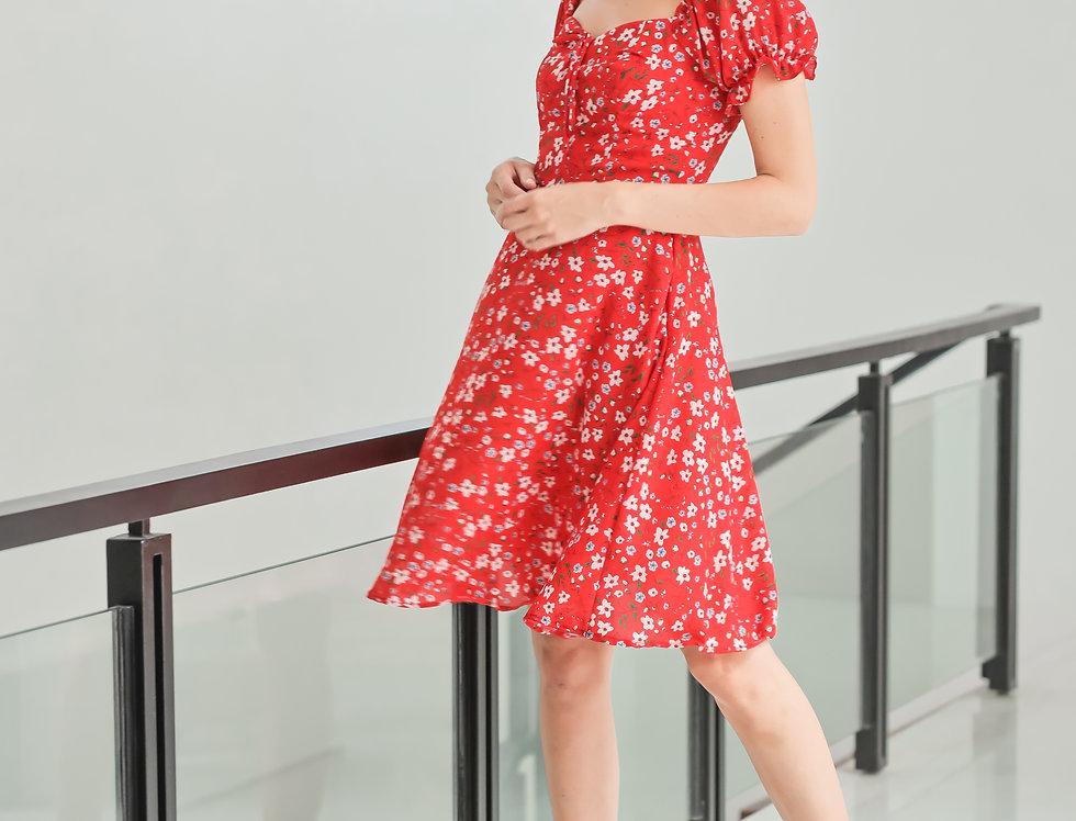 Carter Dress- Red Floral