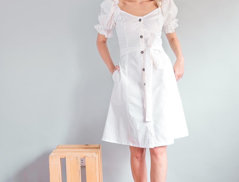 Ella Dress- White