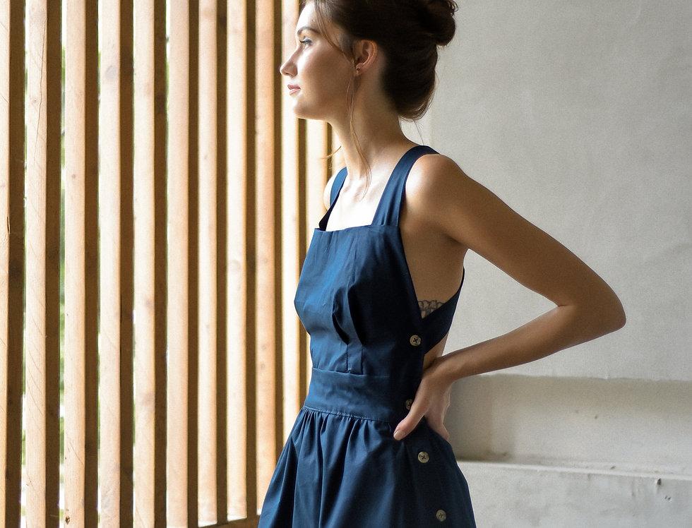 Amethyst Dress: Navy Blue