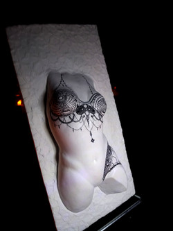 Buste sculpté tatoué buste Sharanga