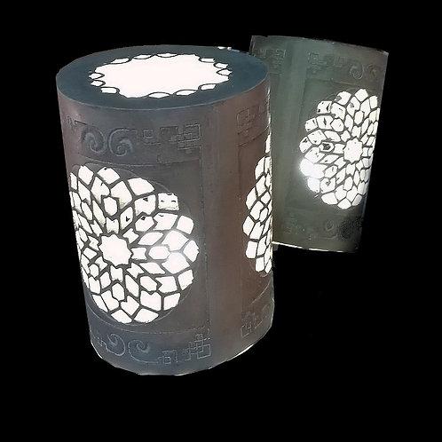 Lampe byzantine arrondie N°3, Patine pierre / ancien
