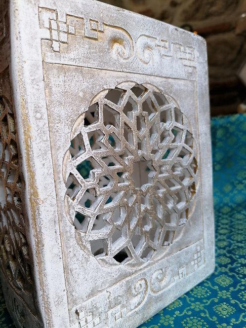 Lampe artisanale byzantine N°3, Patine pierre / ancien