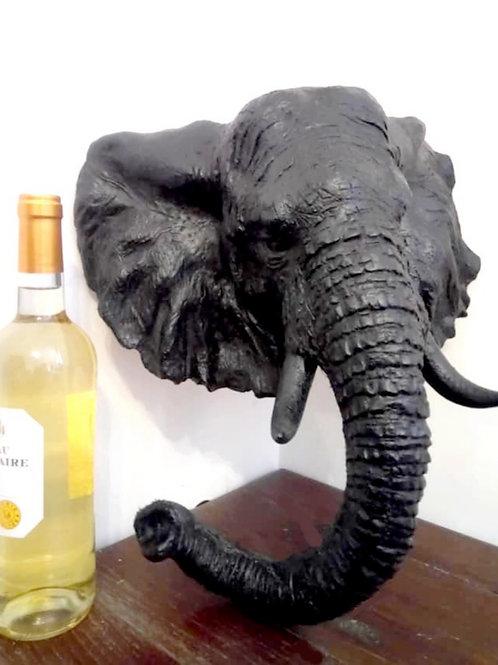 Tête d'éléphant sculptée - Sharanga-Design