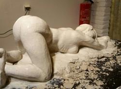 Nu sculpture argile Sharanga