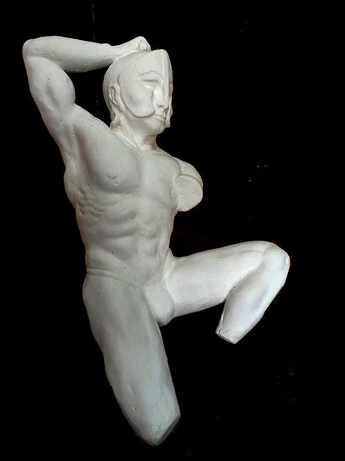 Sculpture buste danseur guerrier grecque - Sharanga-Design