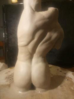Sculpture buste argile Sharanga