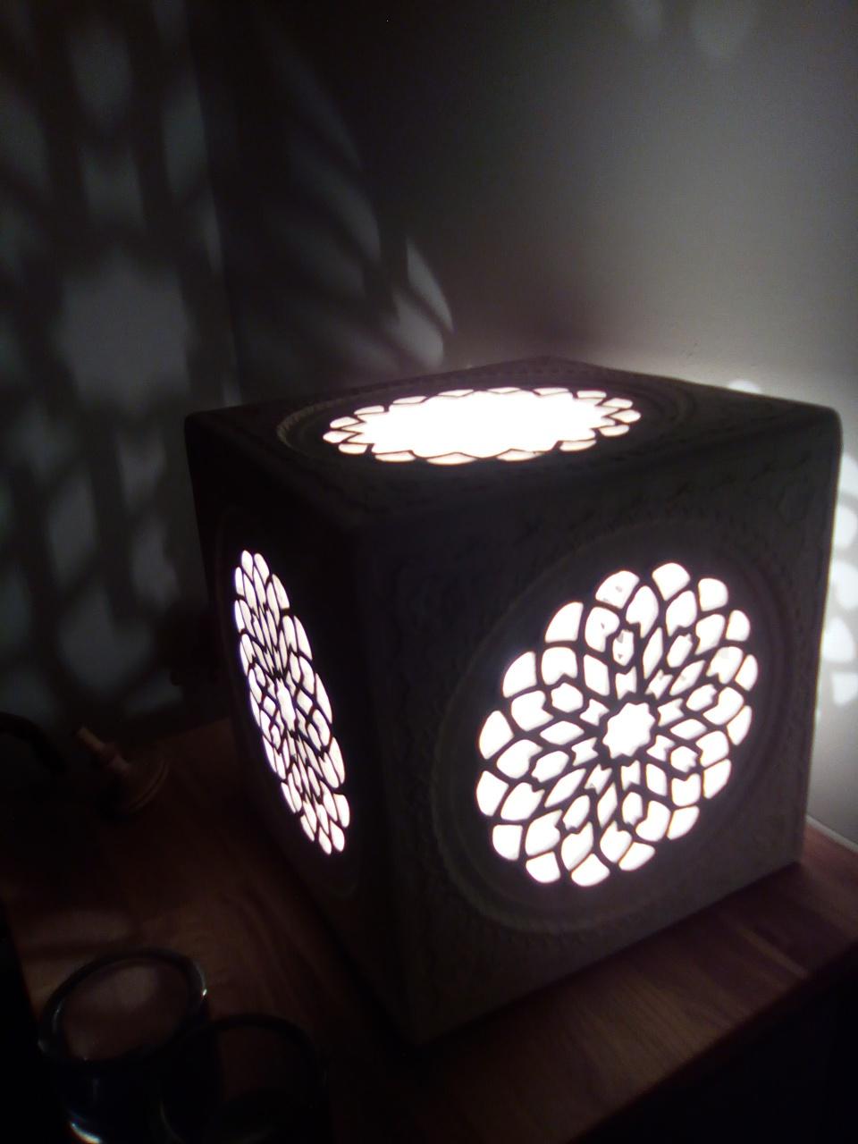 Lampe marocaine, art andalou,