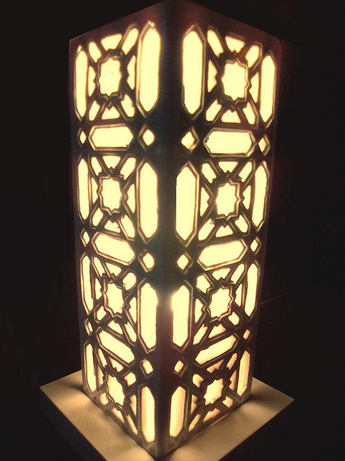 Lampe tour marocaine ajourée, Version 1 Sharanga Design