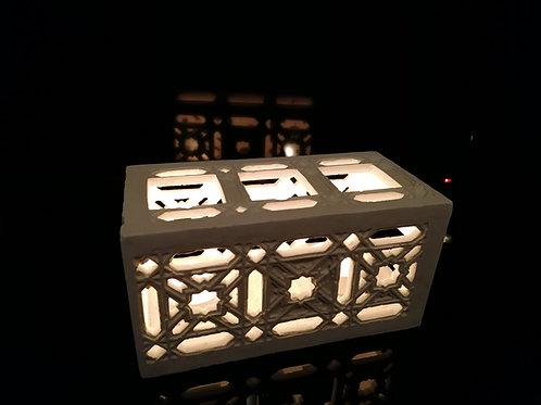 Photophore horizontal marocain ajouré -  Sharanga Design