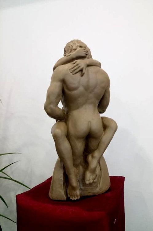 """Sculpture marbre """"Les enlacés"""""""
