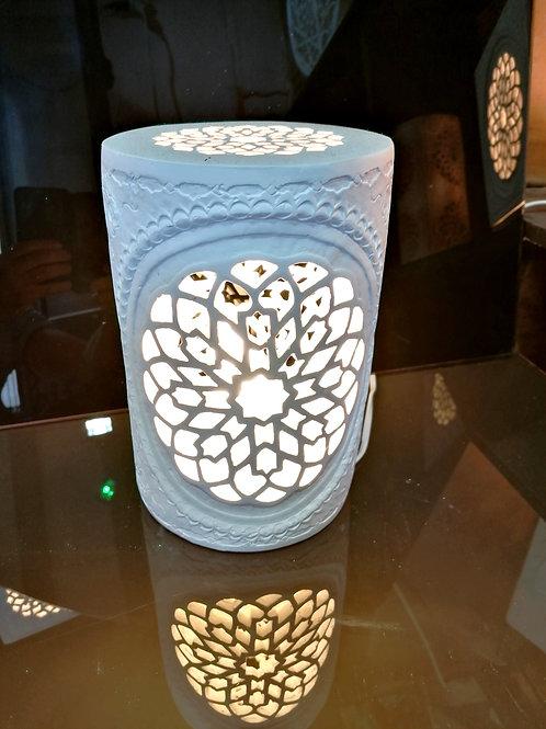 Lampe arrondie byzantine N°1, Patine pierre / ancien