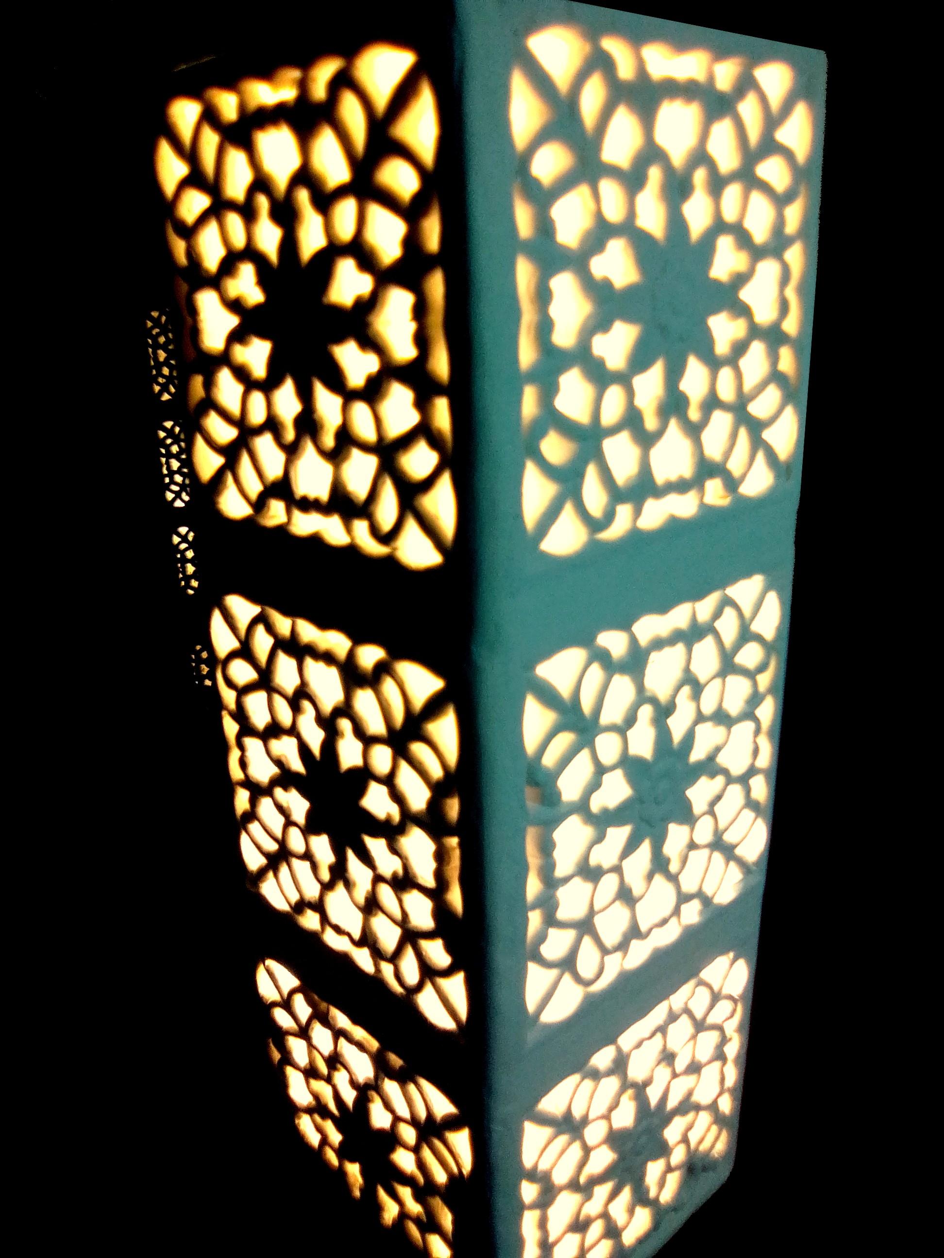 Lampe à poser style indien