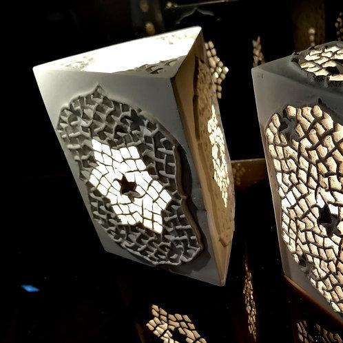 Lanterne photophore nid d'abeille - Création Sharanga-design