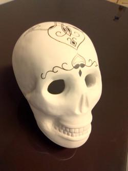 Crâne tatoué Sharanga-Design