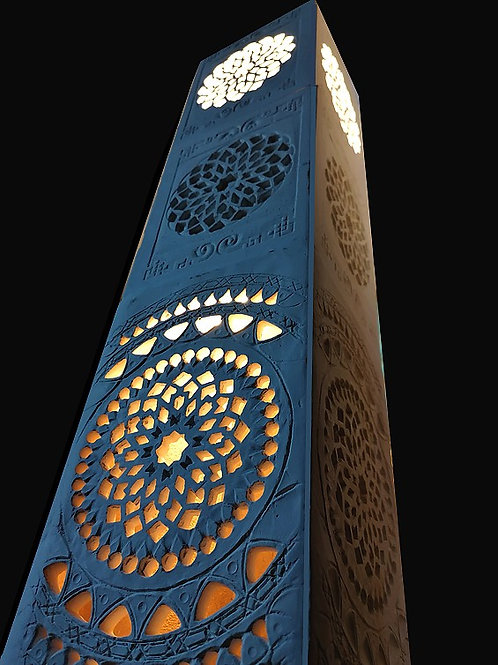 Lampe PILIER byzantin 160x23 cm, Sharanga Design