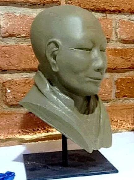Sculpture buste de moine -Création Sharanga