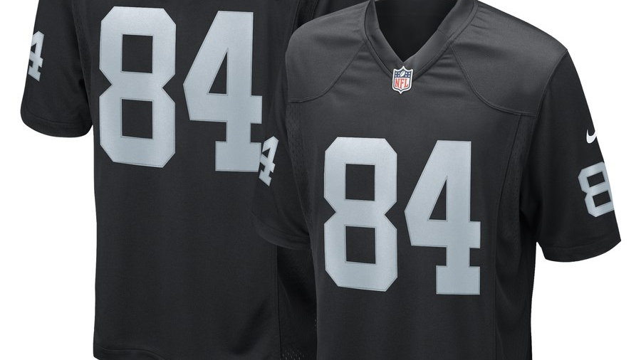 Men's Oakland Raiders Antonio Brown Nike Black Game Jersey