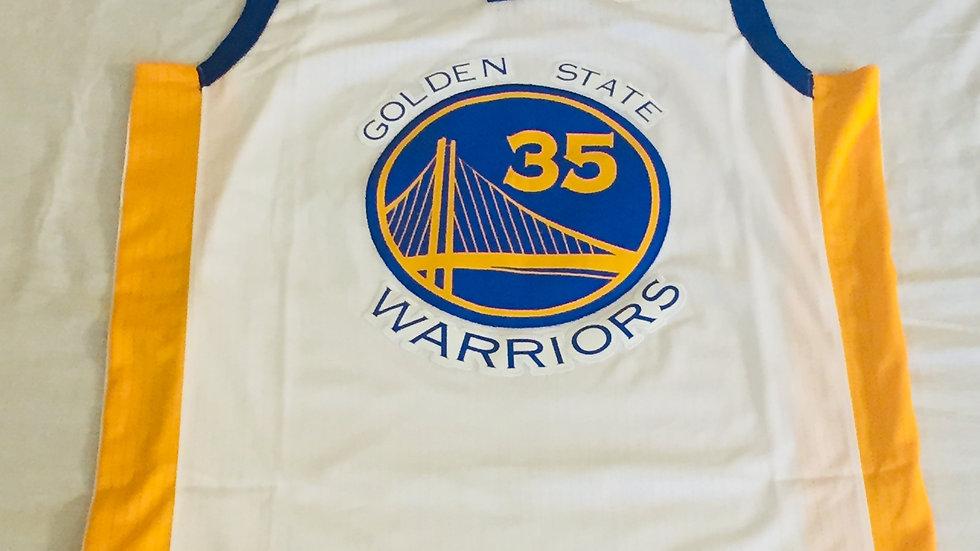 Men's Golden State Warriors Kevin Durant Nike White Swingman Jersey