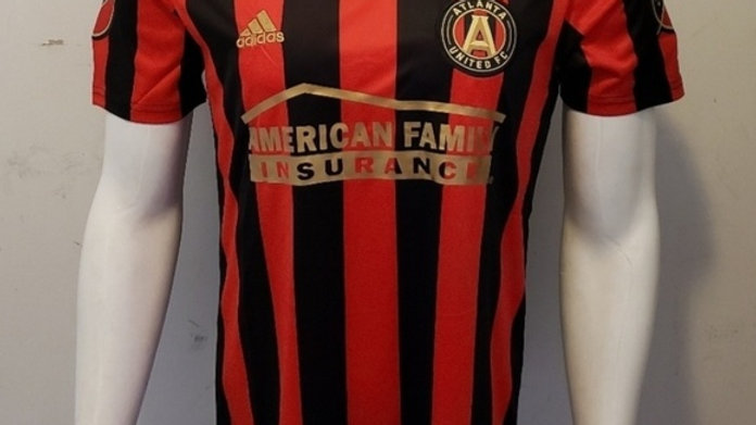 Men's Atlanta United FC adidas Red 2019 Star and Stripes Team Jersey