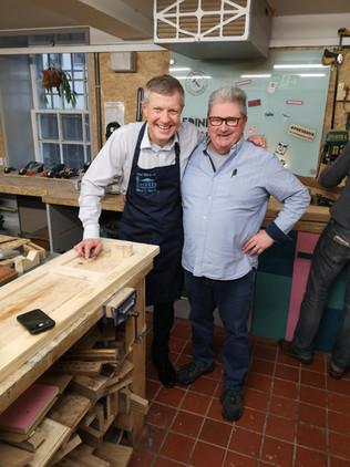Alan with MSP Willie Rennie