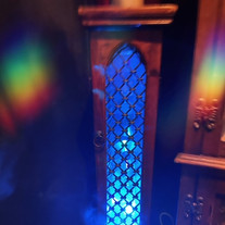 our feture stand also doubles as incense burner