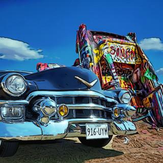 Cadillac now at Cadillac Ranch