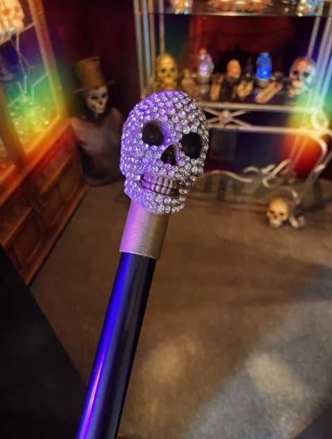 Jewelled grin swaggering cane £30
