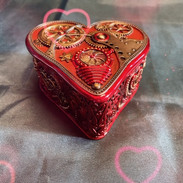 Steampunk Heart trinket box £30