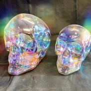 irredescent led skulls £16 & £20