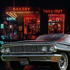 Galaxie outside bakery take out
