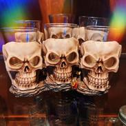 6 shooter skulls on tray £20