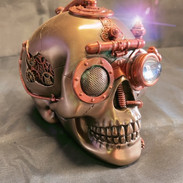 Steampunk skull with secret draw £55