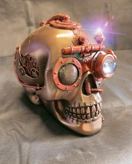 Steampunk skull with secret draw £55