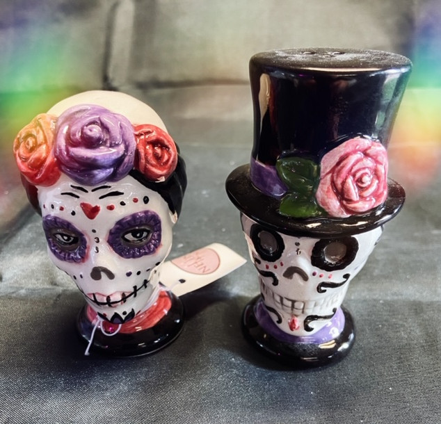day of the dead salt and pepper pot set £15