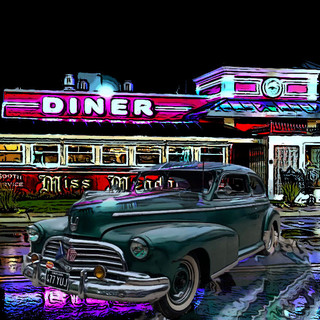 46 Chevy at the diner