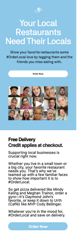 Postmates Food Delivery Supporting Local
