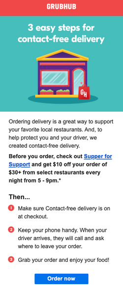 Grubhub Food Delivery No Contact Deliver