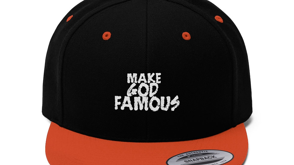 Make God Famous Unisex Flat Bill Hat