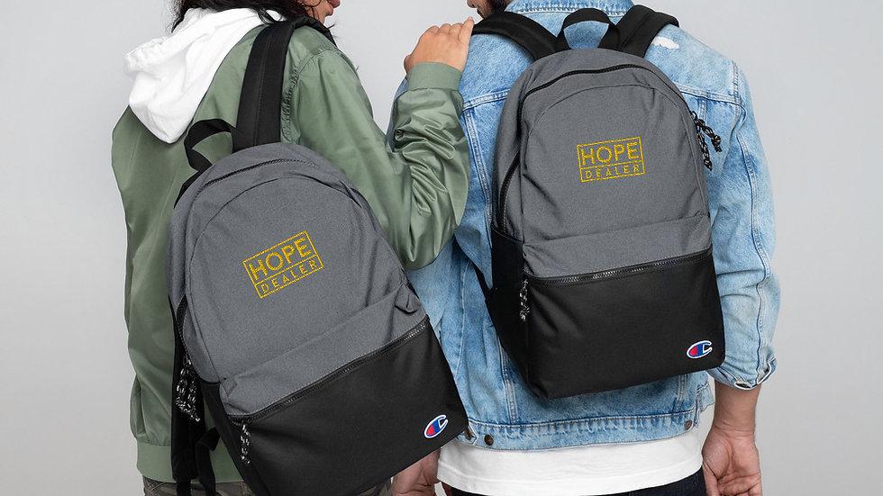 Hopeful/ Hope Dealer Embroidered Champion Backpack