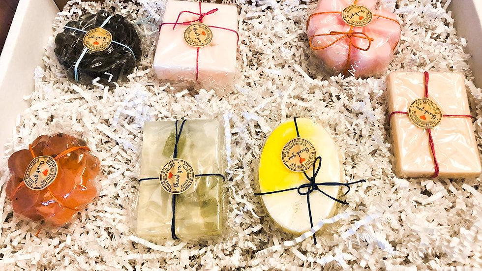 Handmade scented soaps: Seven Bar Bundle