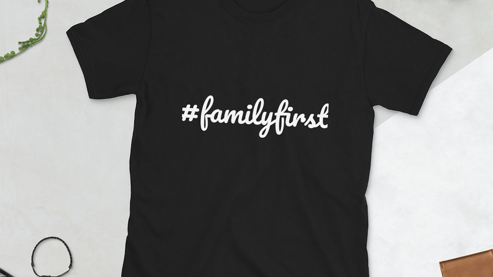 Short-Sleeve Mens #FamilyFirst T-Shirt