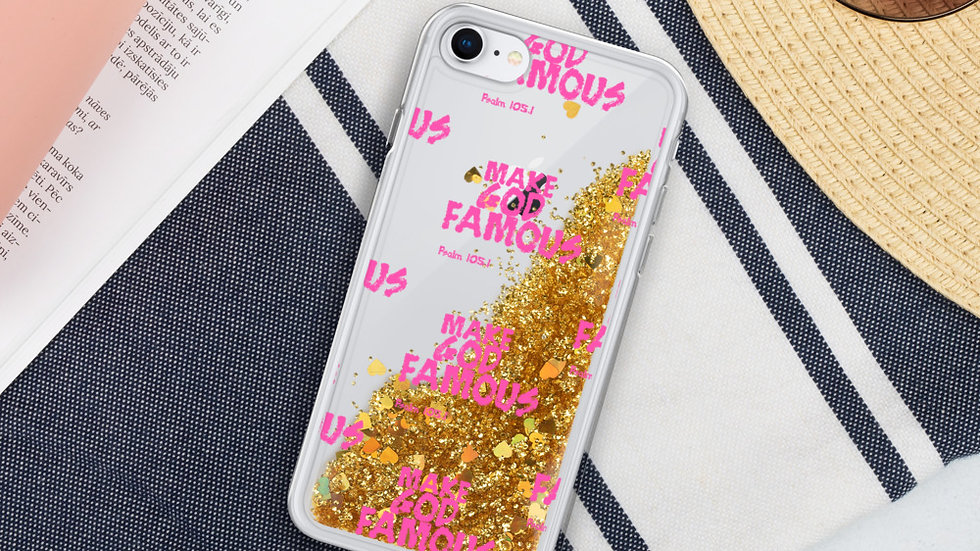 Pink MGF- Liquid Glitter iPhone Case
